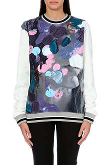 MSGM Painterly-print cotton-jersey sweatshirt