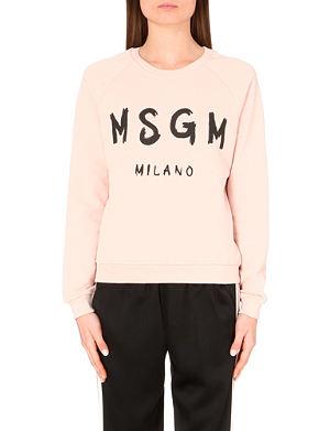 MSGM Logo-graphic cotton sweatshirt