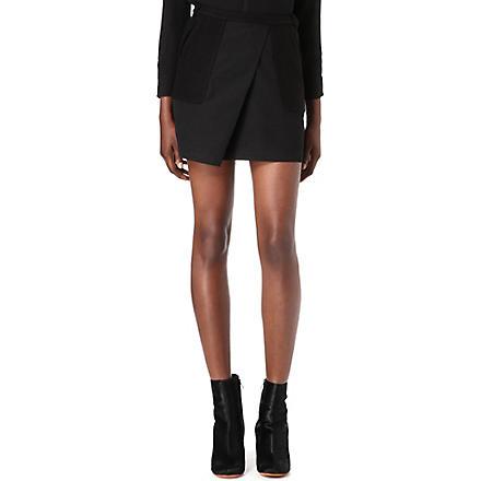 JNBY Wool-blend wrap skirt (Black