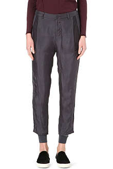 JNBY Tux stripe silk trousers