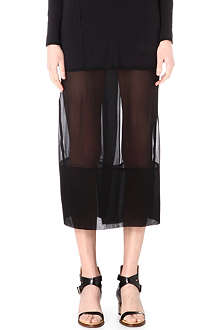 JNBY Semi-sheer silk skirt