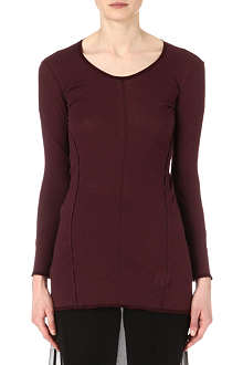 JNBY Long-sleeved panelled jersey top