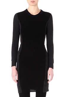 JNBY Contrast-knit panelled dress
