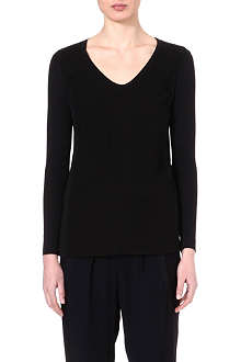 JNBY Silk-panelled top