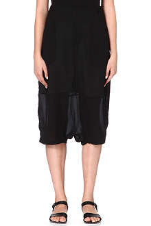 JNBY Sheer-panel harem shorts