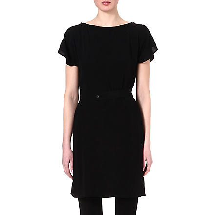 JNBY Button-shoulder crepe dress (Black