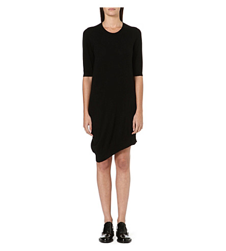 JNBY Asymmetric knitted dress (Black