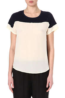 SEA Two-tone silk top