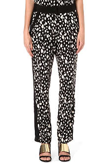 SEA Leopard-print silk trousers