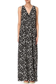 SEA Leopard-print silk maxi dress