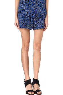 SEA Leopard-print silk shorts