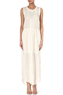 SEA Embroidered lace maxi dress