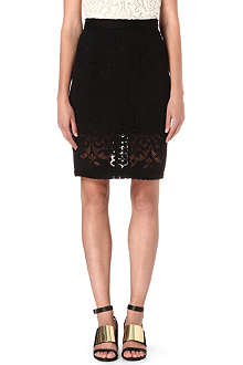 SEA Embroidered-lace pencil skirt