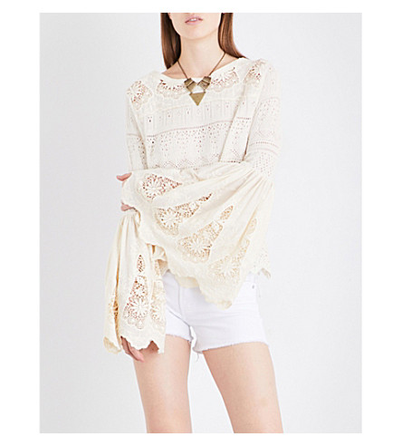 FREE PEOPLE Once Upon A Time crochet top (Ivory