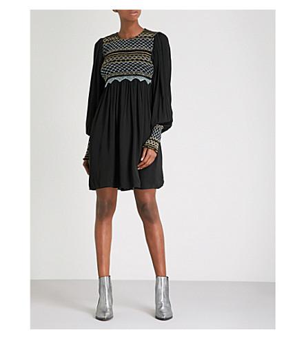 FREE PEOPLE Late Night Picnic crepe mini dress (Black