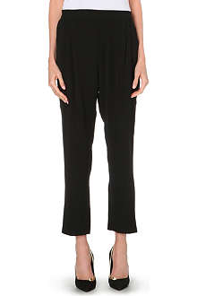 10 CROSBY Straight crepe trousers