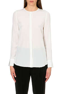 10 CROSBY Pleated-back silk shirt