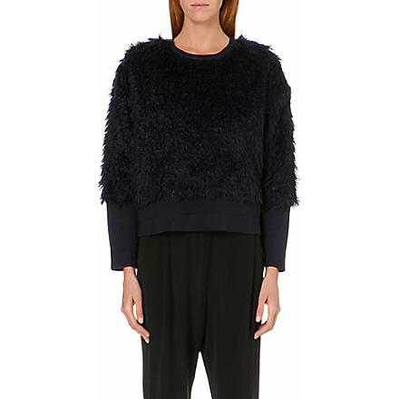 10 CROSBY Mohair-fur jumper (Midnight