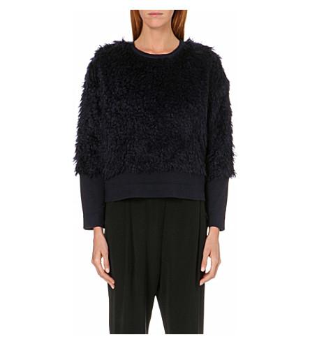 10 CROSBY Mohair-fur jumper (Midnight