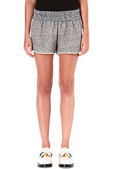 10 CROSBY Contrast-panel jersey shorts