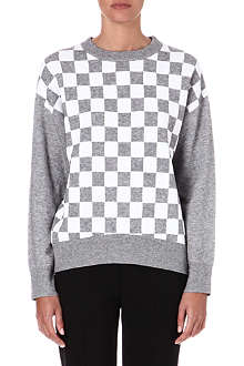 10 CROSBY Checkerboard knitted jumper