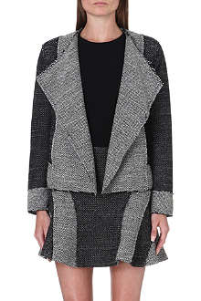 10 CROSBY Open-front basket-weave jacket