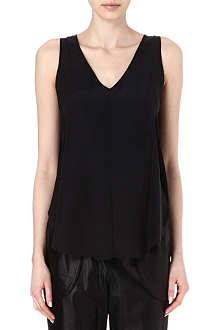 10 CROSBY Silk and mesh top