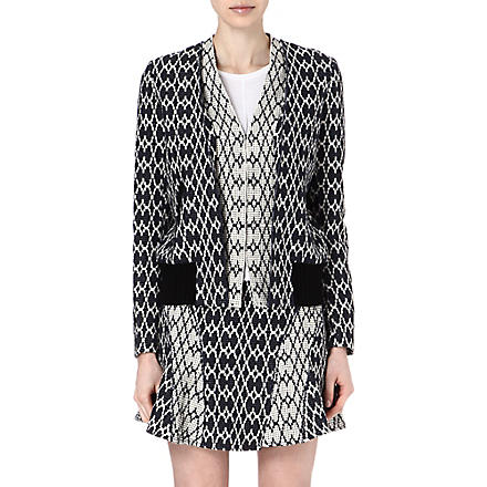 10 CROSBY Jacquard jacket (Midnight/ soft white