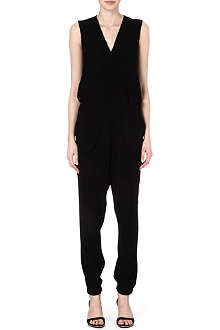 10 CROSBY Silk trim jumpsuit