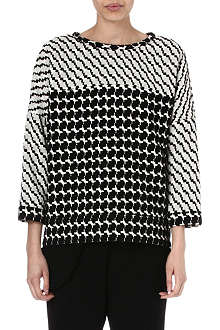 10 CROSBY Abstract detail wool-blend top