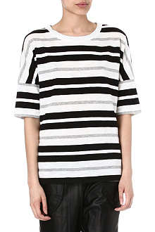 10 CROSBY Striped stretch-cotton t-shirt