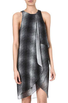 10 CROSBY Draped-front silk dress