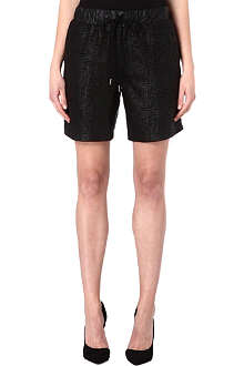 10 CROSBY Textured-leather shorts