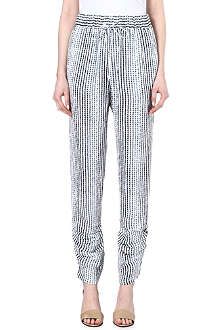 10 CROSBY Striped silk trousers