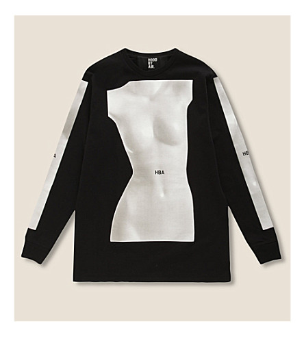 HOOD BY AIR Mannequin cotton-jersey top (Black
