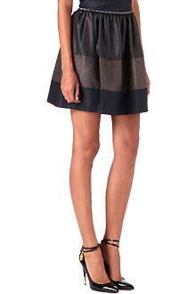 JONATHAN SIMKHAI Blocked gathered skirt