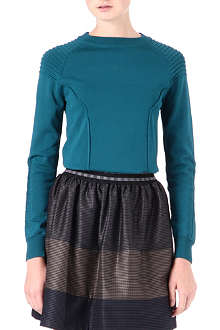JONATHAN SIMKHAI Ribbed-shoulder jumper