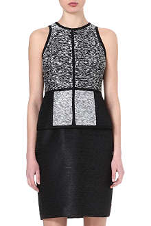 JONATHAN SIMKHAI Textured peplum dress
