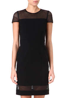 JONATHAN SIMKHAI Mesh-panelled stretch-cotton dress