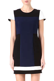 JONATHAN SIMKHAI Colour-block crepe dress