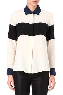 JONATHAN SIMKHAI Colour-block silk shirt