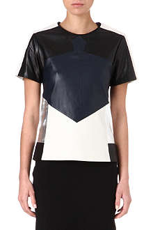 JONATHAN SIMKHAI Colour-blocked leather top