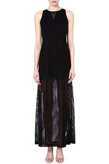 JONATHAN SIMKHAI Mesh-detailed maxi dress