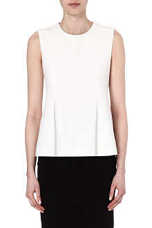 JONATHAN SIMKHAI Pleated crepe top