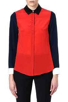 JONATHAN SIMKHAI Colour-blocked silk shirt
