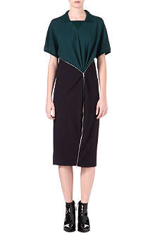 LACOSTE Zip-front polo dress
