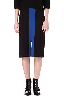 LACOSTE Centre-split neoprene skirt