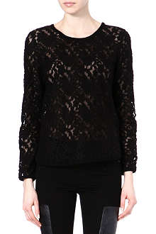 DESIGNERS REMIX Lace jersey top