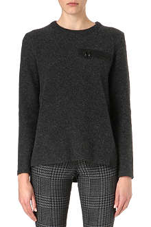 DAGMAR Zip-pocket wool-blend jumper