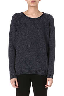 DAGMAR Metallic knitted jumper